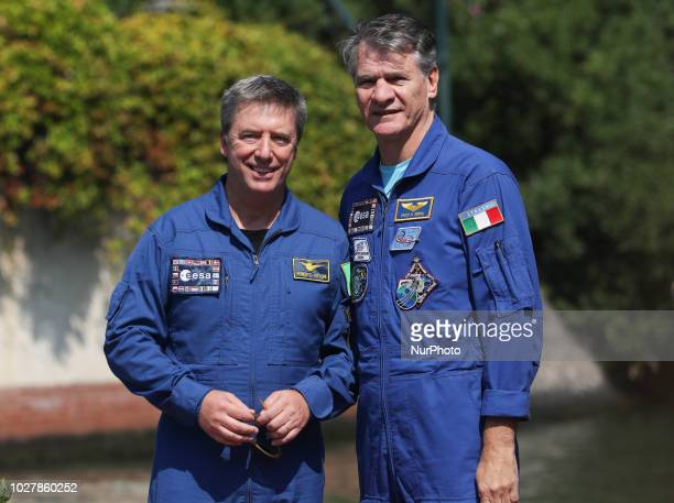 Astronauts Roberto Vittori and Paolo Nespoli is seen during the 75th Venice Film Festival on September 6, 2018 in Venice, Italy.