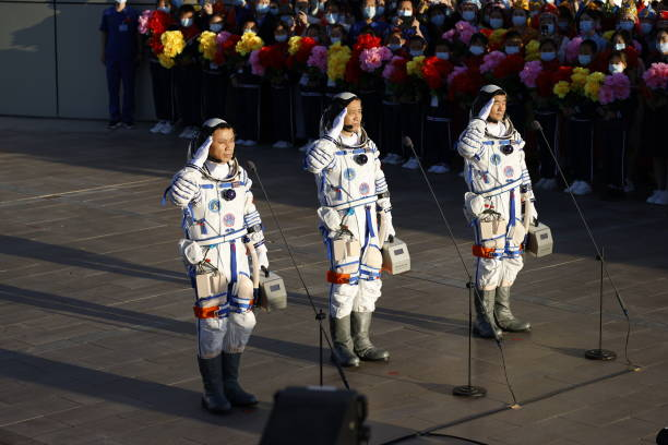 CHN: China Launches Astronauts To Space Station