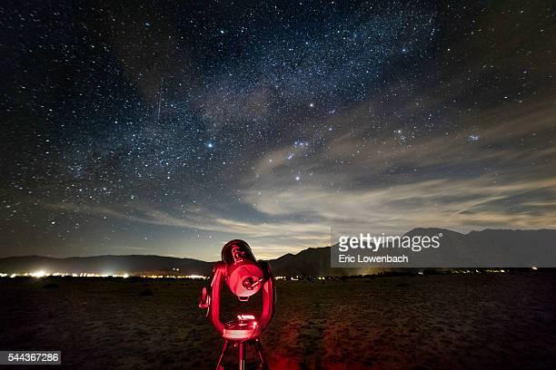 Astronmy Under a Starry Desert Sky