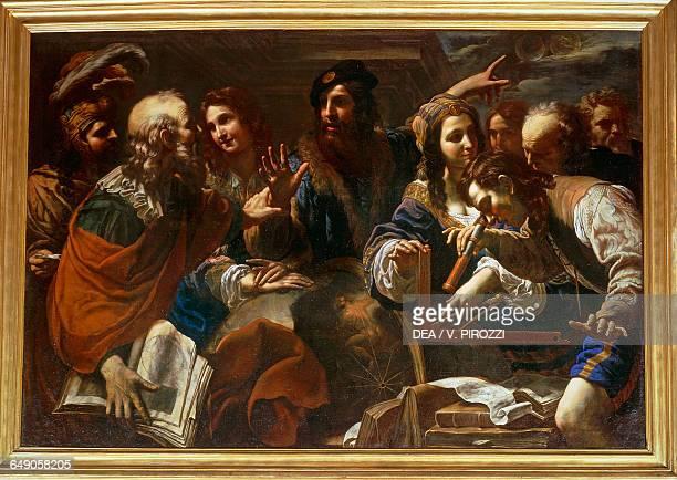 Astronomers by Niccolo Tornioli oil on canvas 148x218 cm Rome Galleria Spada