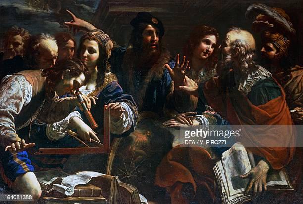 Astronomers by Nicolo Tornioli oil on canvas 148x218 cm Rome Galleria Spada