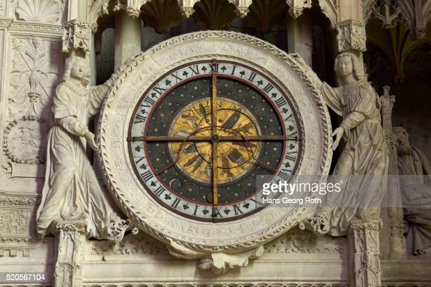 Astronomic clock on the South-front of the chancel of the cathedral Notre-Dame-de-Chartres
