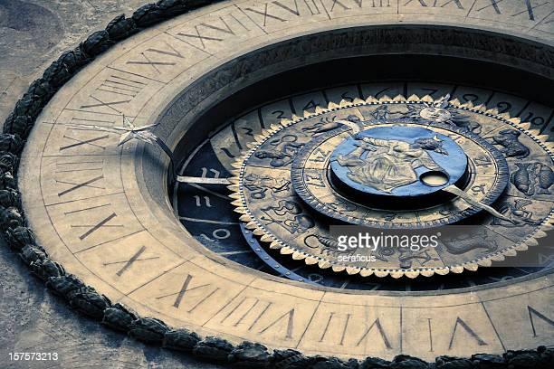 astronomical clock at mantua - mantua stock pictures, royalty-free photos & images