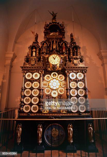 Astronomical clock by Auguste-Lucien Verite, Cathedral of St John , Besancon, Franche-Comte, France, 19th century.