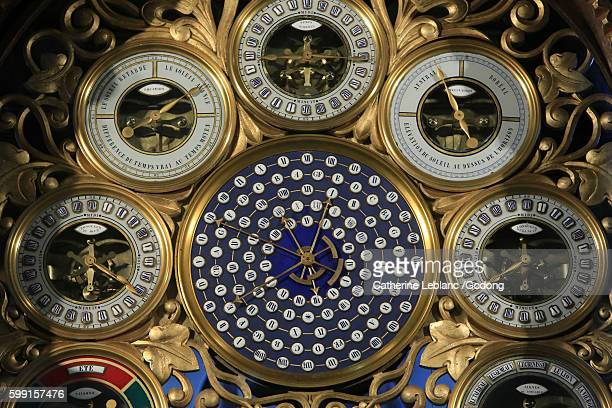 astronomical clock by mr. truth. 1866. beauvais cathedral. - oise stock pictures, royalty-free photos & images