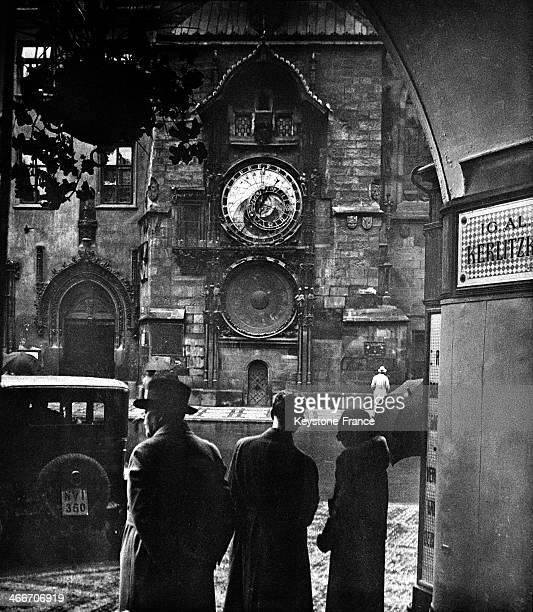 Astronomical Clock in Prague circa 1930