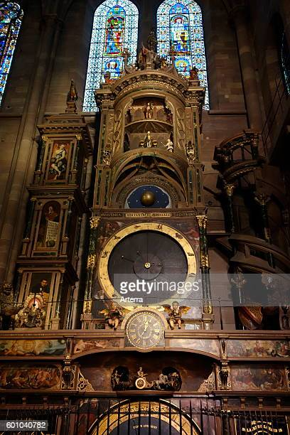 Astronomical clock in the Cathedral of Our Lady of Strasbourg / Cathedrale NotreDame de Strasbourg Alsace France