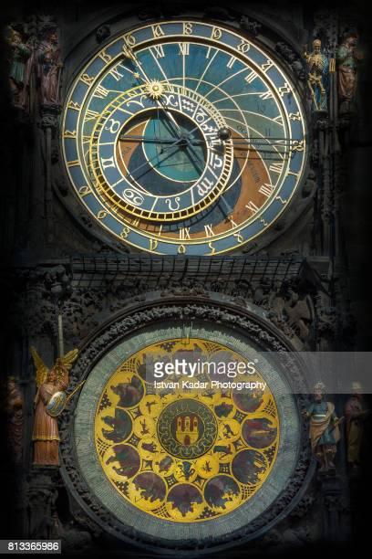 Astronomical Clock on the Old Town City Hall in Prague, Central Bohemia, Czech Republic