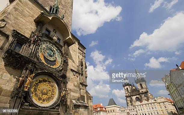 astronomical clock - astronomical clock prague stock pictures, royalty-free photos & images