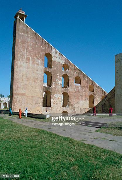Astronomical instrument, Jaipur Observatory, Rajasthan, India. Part of the Jantar Mantar , a collection of architectural astronomical instruments...