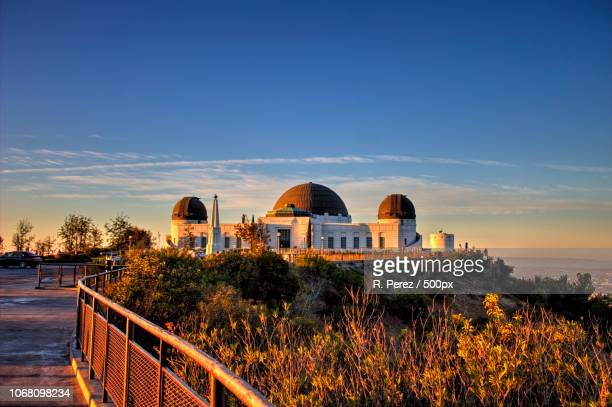 astronomical observatory during sunset - hollywood stock pictures, royalty-free photos & images