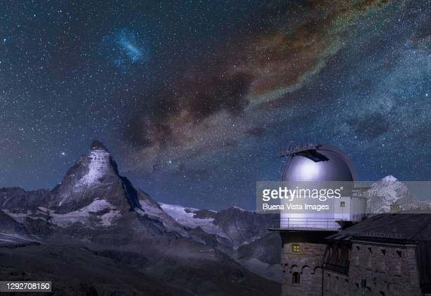astronomical observatory in the mountains - observatory stock pictures, royalty-free photos & images