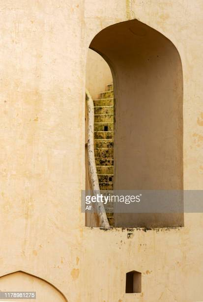 astronomical observatory of jantar mantar in jaipur, rajasthan, india - jantar mantar stock pictures, royalty-free photos & images