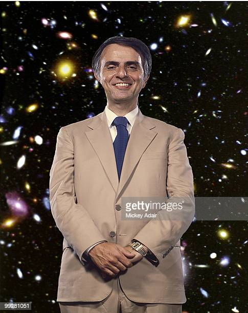 Astrophysicist Carl Sagan poses before a Florida State Universty Distinguished Lecture Series speech at the Turnbull Conference Center in circa 1984...