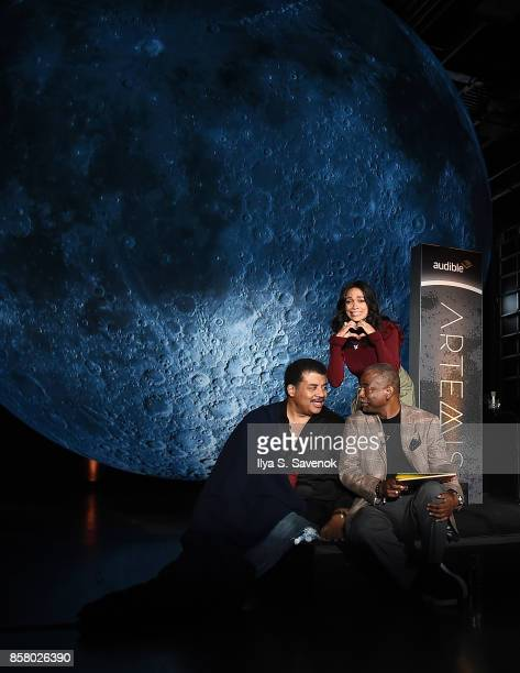 Astrophysicist Neil deGrasse Tyson and actors Rosario Dawson and LeVar Burton attend Artemis Journey To The Moon presented by Audible at Hudson River...