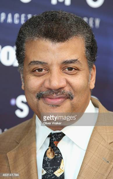 Astrophysicist Neil deGrasse Tyson arrives at FOX And National Geographic Channel Present A Screening Of Cosmos A Spacetime Odyssey at The Paley...