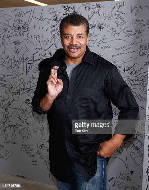 """Astrophysicist Neil deGrasse Tyson attends AOL BUILD Presents: """"Star Talk"""" at AOL Studios In New York on October 28, 2015 in New York City."""