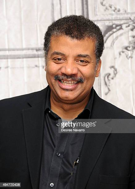 Astrophysicist Neil deGrasse Tyson attends AOL BUILD Presents Star Talk at AOL Studios In New York on October 28 2015 in New York City