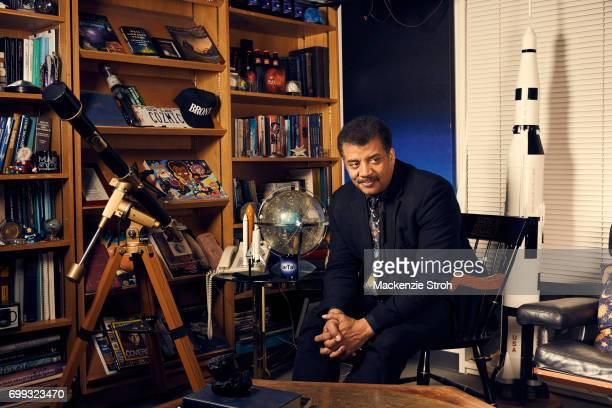 Astrophysicist Neil DeGrasse Tyson is photographed for Wall Street Journal on May 3 2017 in New York City