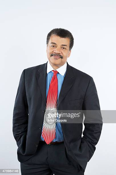 Astrophysicist Neil deGrasse Tyson poses for a portrait at The 74th Annual Peabody Awards Ceremony at Cipriani Wall Street on May 31 2015 in New York...