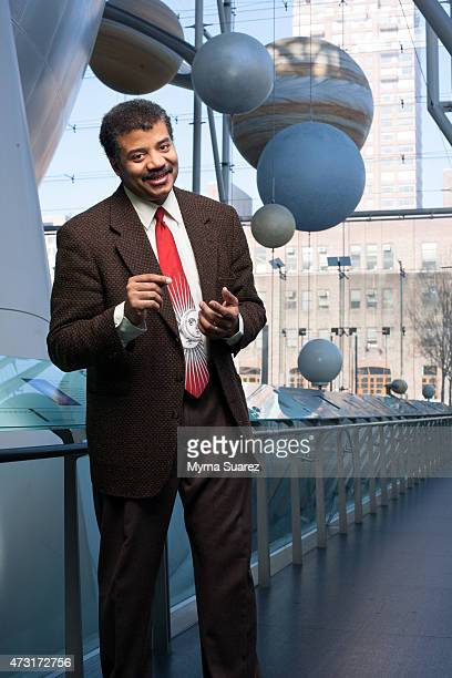 Astrophysicist Neil deGrasse Tyson poses for a portrait at The Rose Center for Earth and Space Hayden Planetarium on February 28 2008 in New York City