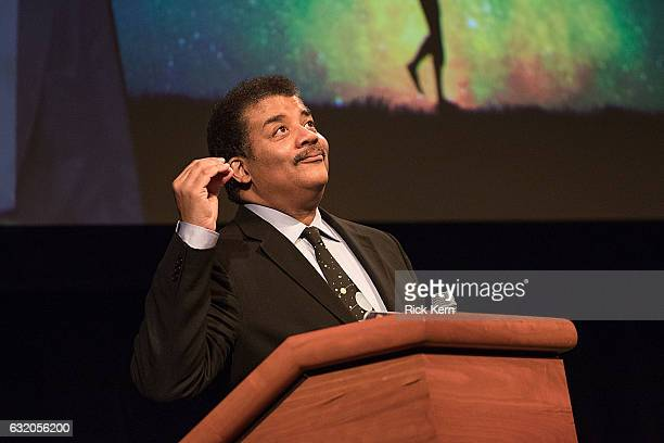 Astrophysicist Neil deGrasse Tyson speaks onstage at the Long Center on January 18 2017 in Austin Texas