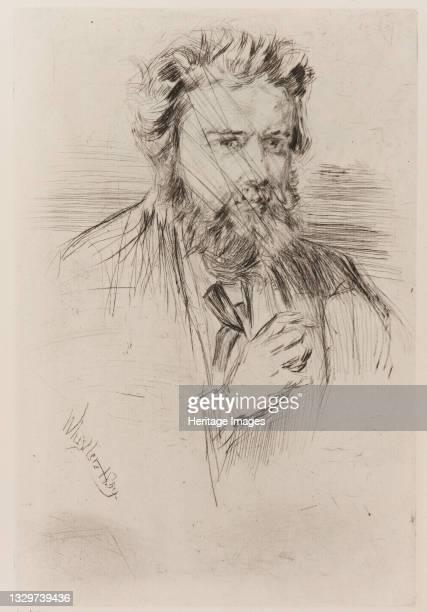Astruc, Editor of 'L' Artiste', 1859. Artist James Abbott McNeill Whistler.