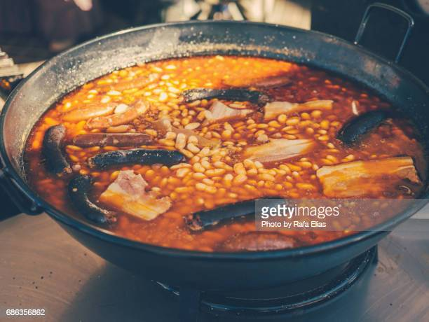 asturian fabada - oviedo stock pictures, royalty-free photos & images