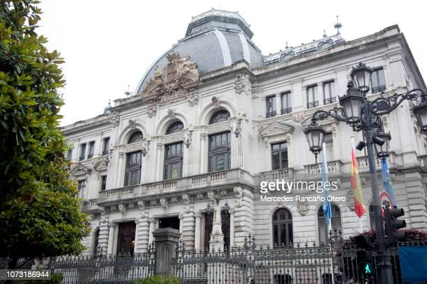 asturias parliament. - oviedo stock pictures, royalty-free photos & images
