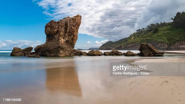 asturias playa del aguilar - asturias stock pictures, royalty-free photos & images