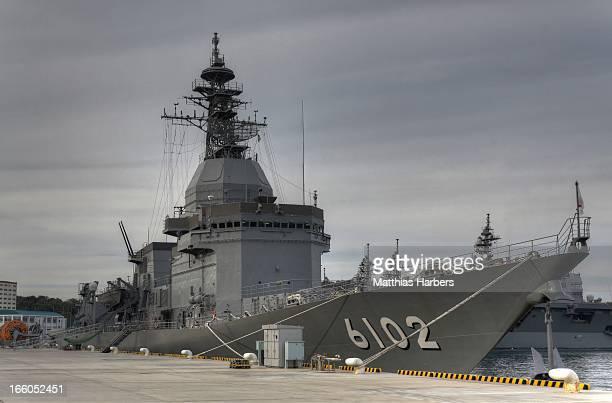Asuka of Japan Maritime SelfDefense Force Seen at Yokosuka Kanagawa Japan