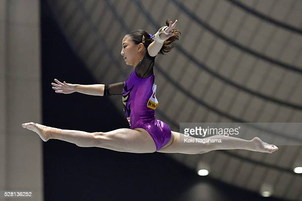 Asuka Teramoto competes in the Balance Beam during the Artistic Gymnastics NHK Trophy at Yoyogi National Gymnasium on May 4 2016 in Tokyo Japan