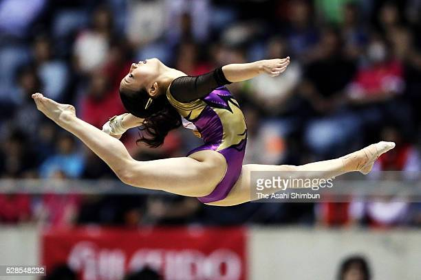 Asuka Teramoto competes in the Floor during the Artistic Gymnastics NHK Trophy at Yoyogi National Gymnasium on May 4 2016 in Tokyo Japan