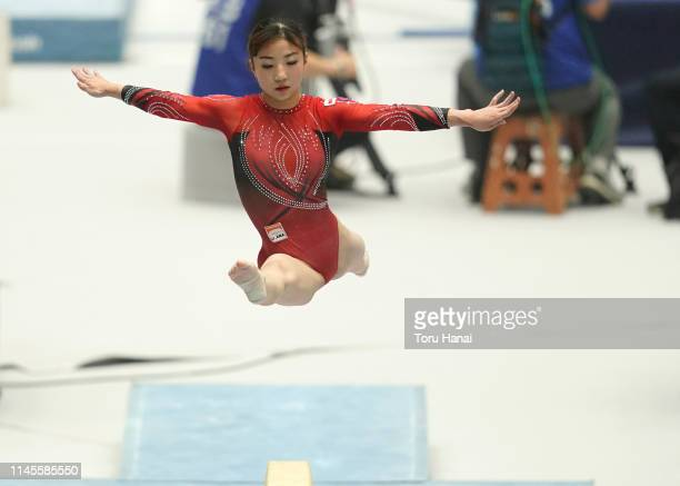 Asuka Teramoto competes on the balance beam during day three of the 73rd All Japan Artistic Gymnastics Individual AllAround Championships at Takasaki...
