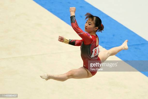 Asuka Teramoto competes on the floor during day three of the 73rd All Japan Artistic Gymnastics Individual AllAround Championships at Takasaki Arena...