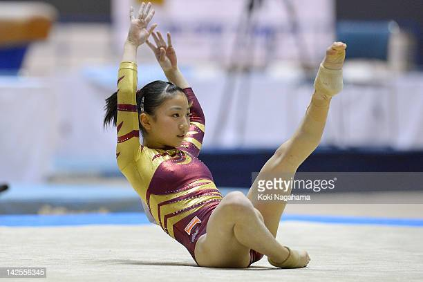 Asuka Teramoto of Japan competes on the Balance Beam during day one of the 66th All Japan Artistic Gymnastics All Around Championships at Yoyogi...