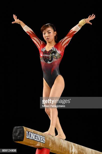 Asuka Teramoto of Japan competes on the balance beam during the individual apparatus finals of the Artistic Gymnastics World Championships on October...