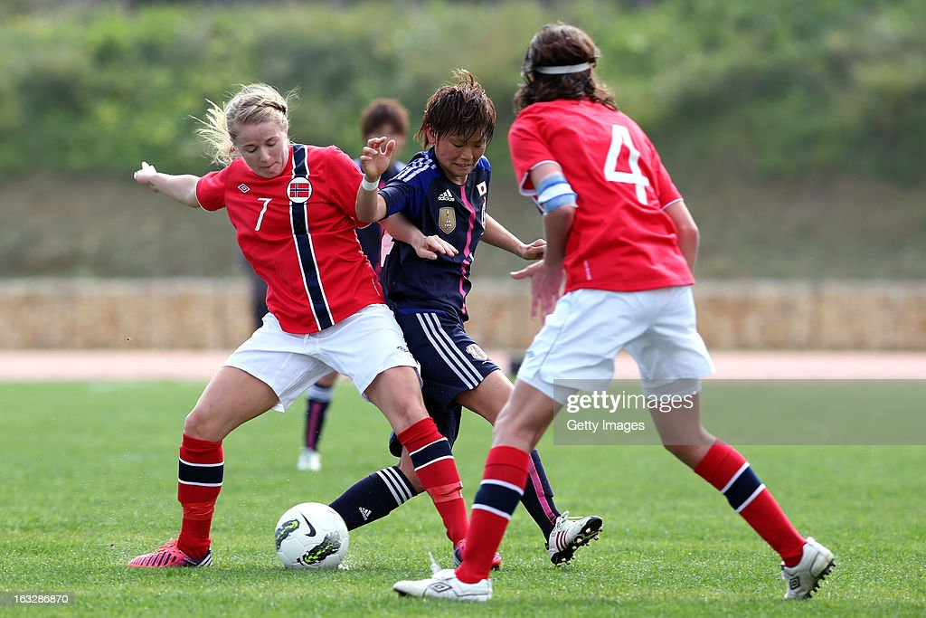 Japan v Norway - Algarve Cup 2013