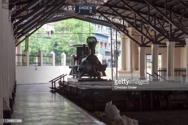 Asunción, Paraguay – March 21: The first locomotive in the railway museum. Museo de la Estacion Central del Ferrocarril Carlos Antonio Lopez in...