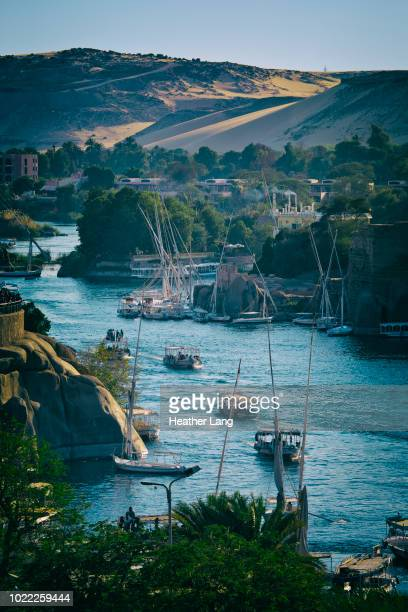 aswan nile view - aswan stock pictures, royalty-free photos & images