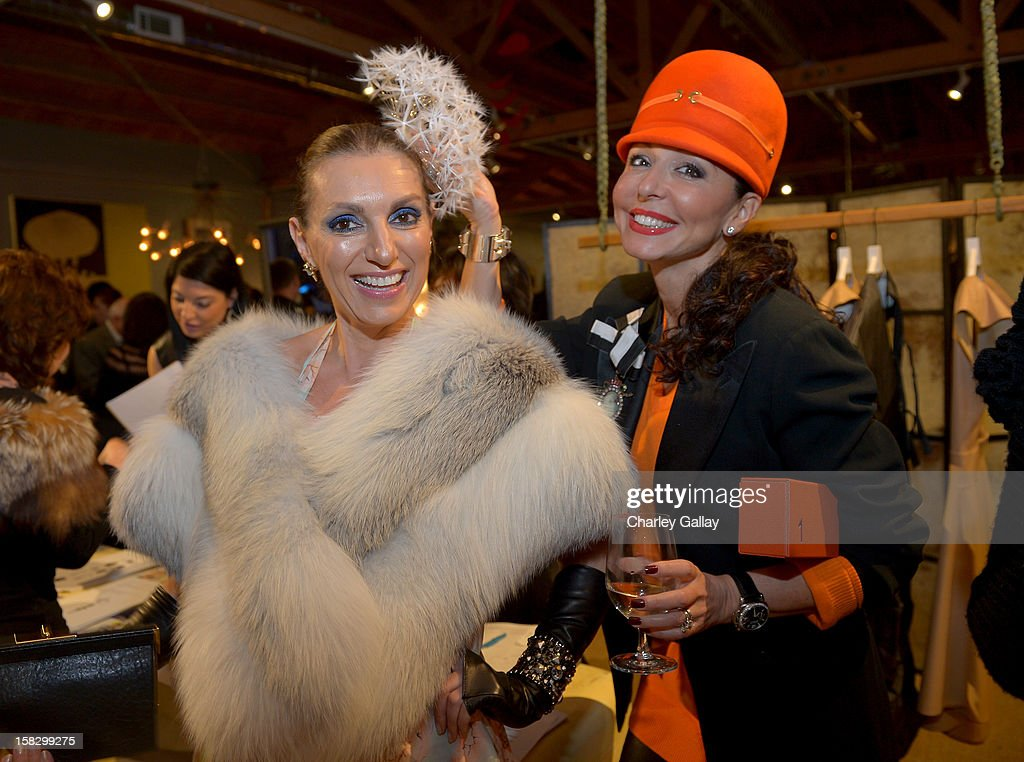 Asya Gorovets (L) and Galina Soboleva attend High Fashion/2013 MOE Aliona Kononova Collection, brought to you by the all-new Lincoln MKZ, hosted by Joel Chen and Lyn Winter at C Project on December 12, 2012 in Los Angeles, California.