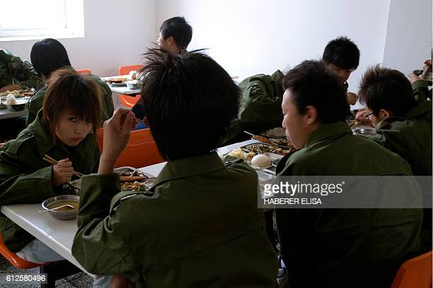 30 AM the lunch is held in utter silence Patients of the center have no choice in the daily menu The Daxing Detox Center hosts teenagers addicted to...