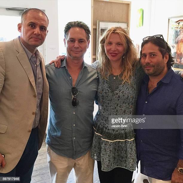 At 5W PR Ronn Torossian, Jason Binn, Courtney Love, CEO of Talent Resources Michael Heller circa July 2016 in New York, NY.