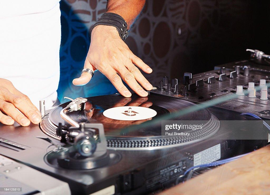 A DJ at a club : Stock Photo