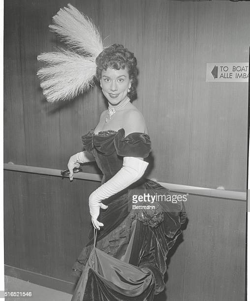 At a gala supper aboard the S.S. Independence at Pier 84 North River for the benefit of the Met Opera Fund, lovely Patrice Munsel arrived from the...