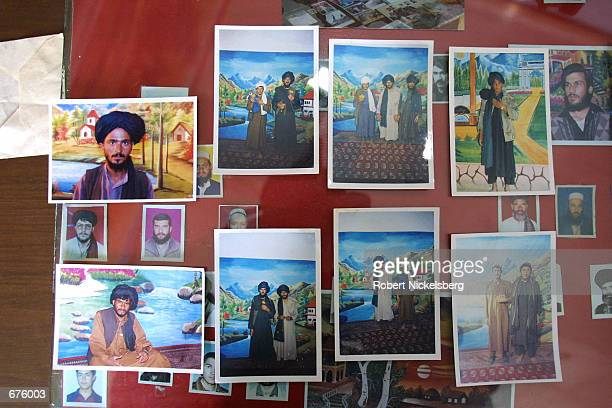 At a local photocopying shop run by a studio photographer, pictures of Taliban soldiers taken on their demand against a scenic backdrop are shown...