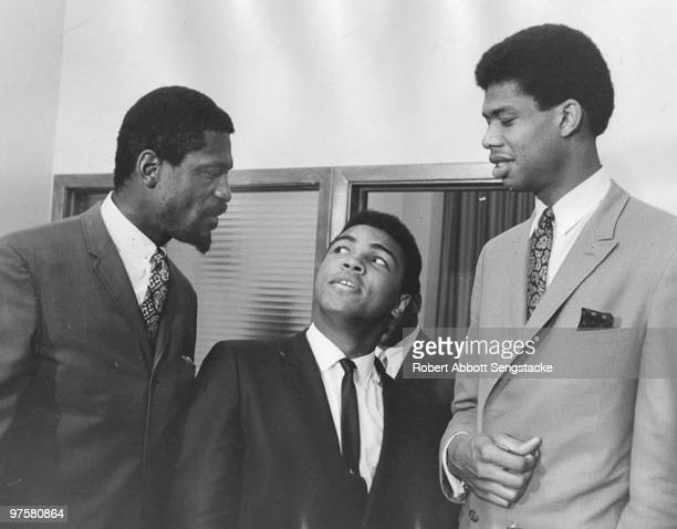 At a meeting of the Negro Industrial and Economic Union organized by football great Jim Brown a group of top African American athletes from different...
