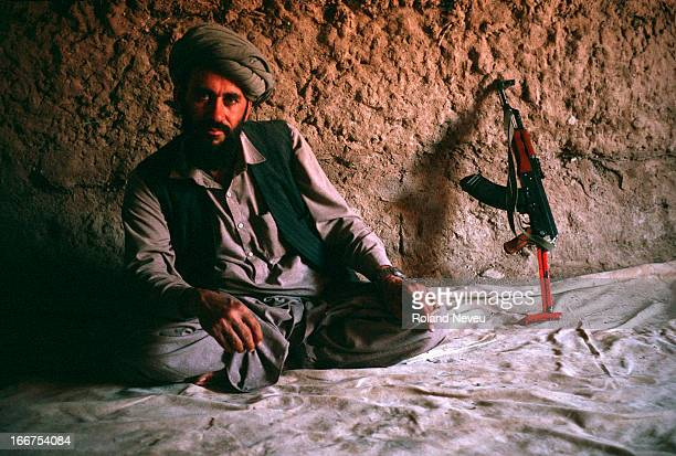 At a Mujahideen camp in the province of Zabul a Mudahideen poses for a photo
