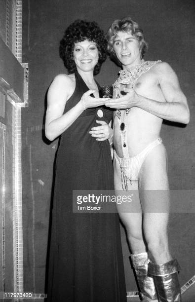 At a performance of the cabaret show 'Pouff' at La Vie En Rose Argentinian exotic dancer Fanne Foxe poses with costumed cast member Brian Peterson...