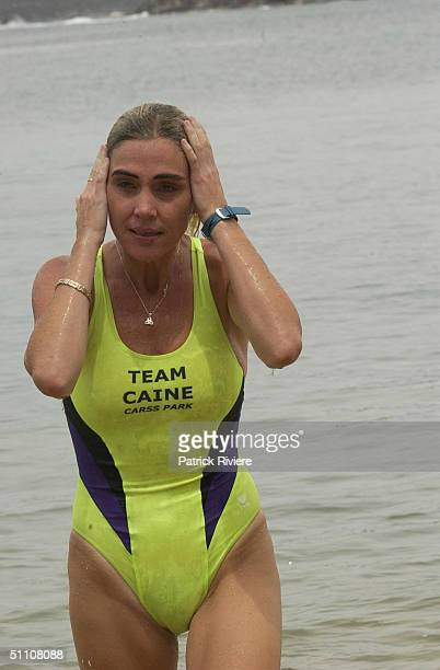 MARONEY at a press conference announcing her retirement from marathon swimming at the Manly Wharf in Sydney on the 20th of February 2003Susie...